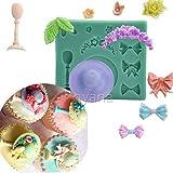 Anyana mini hat Baking Molds ribbon Silicone Fondant molds wine glasses Cake Decorating Tools...