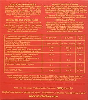 Premium Sea Salt Spanish Flavor 100g. Soso