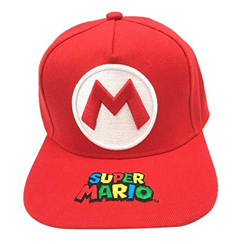 Sombrero de Super Mario Hip Hop Venta al por mayor Mario cosido bordado niño niña gorra de béisbol Cosplay plano Casual Hip Hop sombrero viaje al aire libre sombrero para el sol