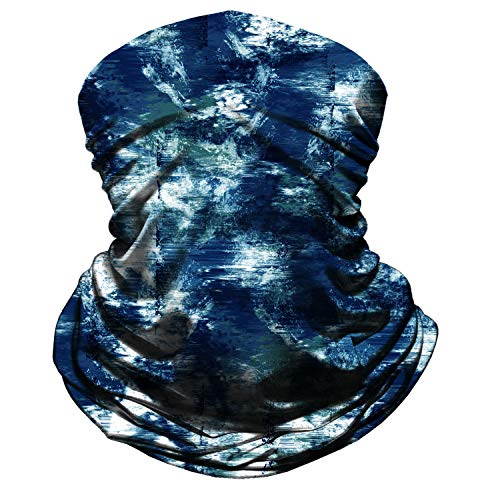 Neck Gaiter Face Mask Reusable, Cloth Face Masks Washable Bandana Face Mask, Sun Dust Protection Balaclava Face Cover Scarf Shield for Fishing Cycling Ink-Blue