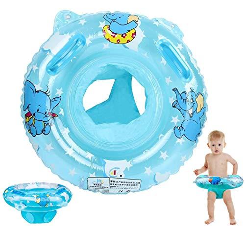 Sunshine smile Baby schwimmring aufblasbarer,Baby schwimmring mit schwimmsitz,babyschwimmen Baby schwimmtrainer,Baby Float schwimmreifen,aufblasbarer schwimmreifen Kleinkind (Blau)