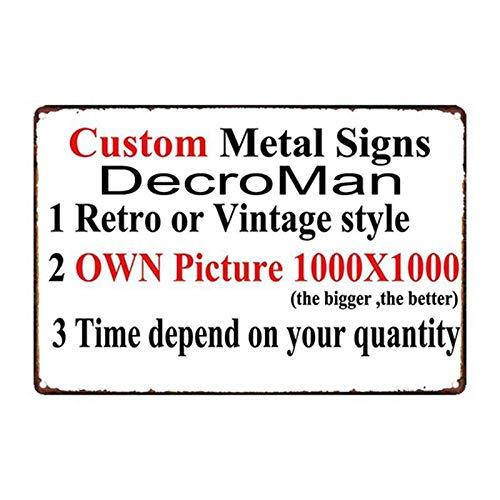 ivAZW Metal Poster Tin Sign Plaque Nostalgic-Art Car Motor Racing Iron Painting Bar Decor Custom