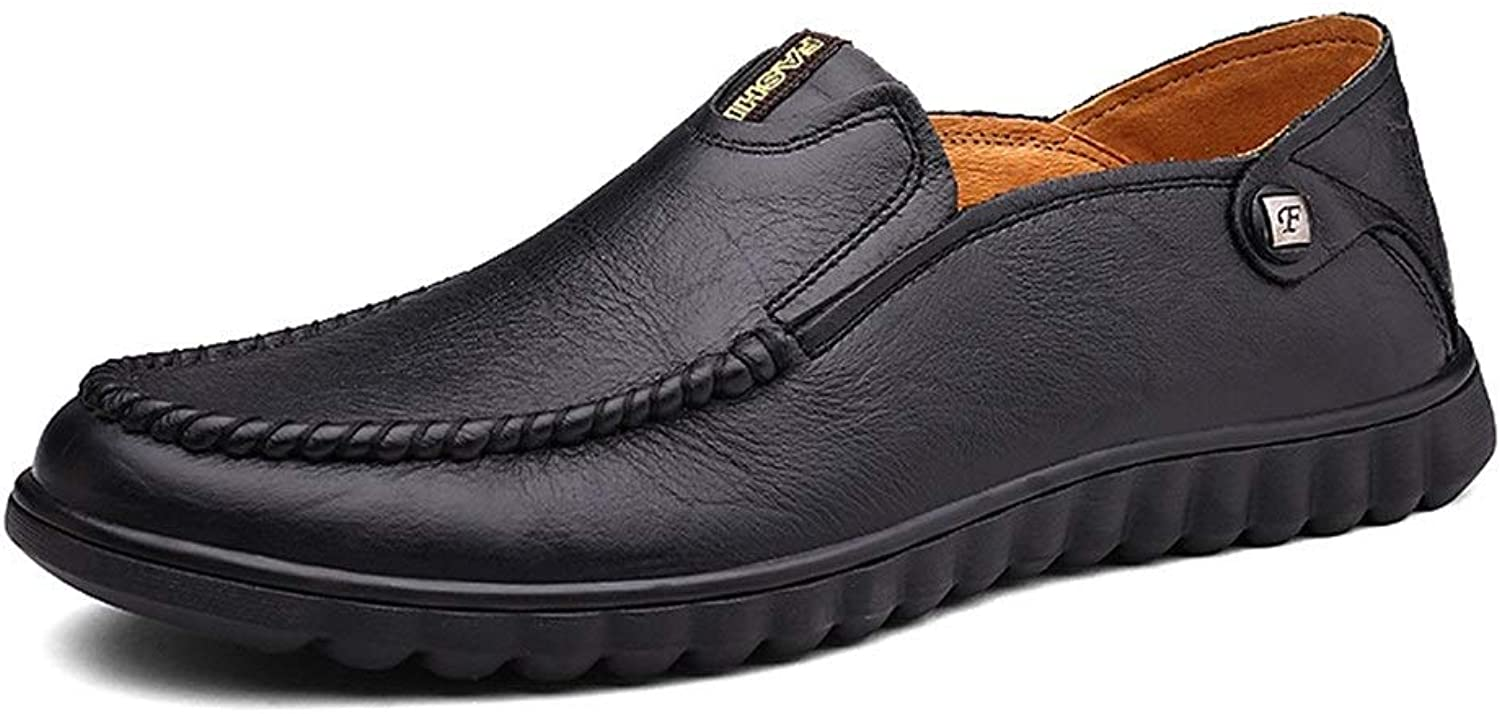 Lvjuzhuangshiame Men's Slip-on Style Driving Loafers OX Leather Moccasins Lightweight Flexible Handmade Boat shoes