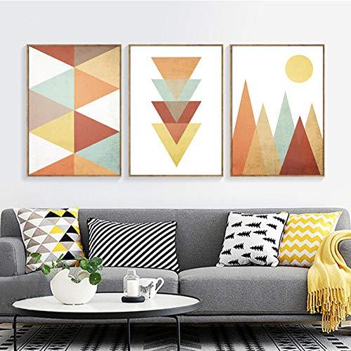 Minimalistisch abstract geometrische kunst canvas schilderij poster Nordic Art fotobehang schilderijen voor woonkamer decoratie 60 * 80 cm zonder lijst