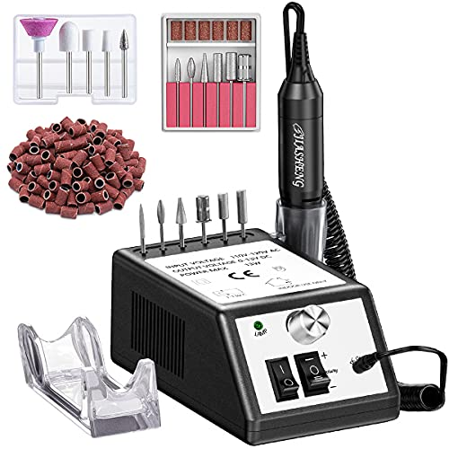 Jiasheng Professional Nail Drill, 20000rpm Electric Nail Drill Machine, Electronic Nail File Drills for Acrylic Nails Gel Nails Manicure Pedicure Tools for Salon Use