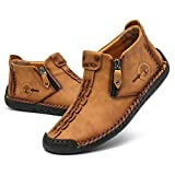 Govicta Men's Shoes Leather Loafers Casual Ankle Chukka Boots Comfortable Slip On Walking Shoes for Work Office Dress Outdoor