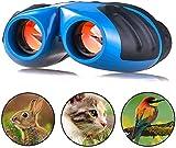 VOARGE Prismáticos para niños, mini compact, 8 x 21, de goma, para observación de aves, vida silvestre, mini binocular para niños, regalo de cumpleaños para pequeños aventureros, en set con accesorios