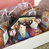 ひなまつり焼き菓子ギフト「三毛猫のおひなさま」(和歌山産フルーツのパウンドケーキ・マドレーヌ・アーモンドカップケーキとチョコナッツクッキー入り)