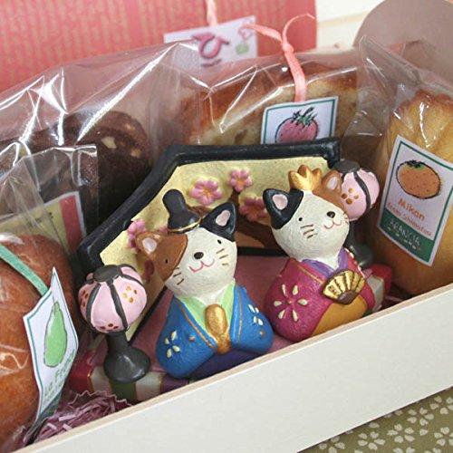 ひなまつり焼き菓子ギフト「三毛猫のおひなさま」(和歌山産フルーツのパウンドケーキ・マドレーヌ・アーモンドカップケーキの全5個入り)