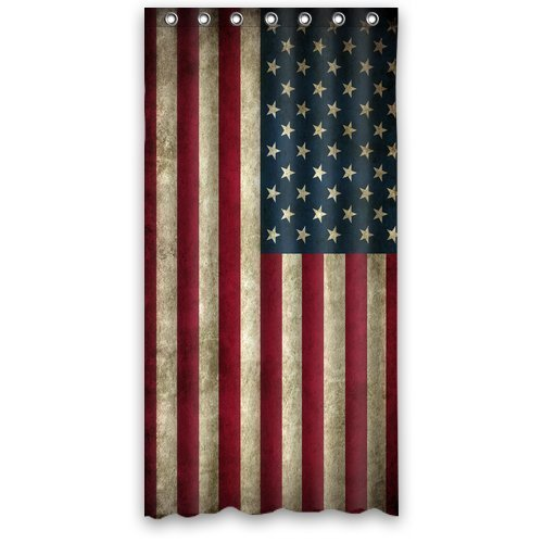 """Awesome American Flag Custom Shower Curtain 36"""" x 72"""" Waterproof Polyester Fabric Shower Curtain"""