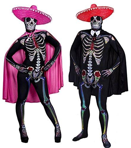 ILOVEFANCYDRESS - Disfraz de pareja Día de los muertos para adultos (talla S - XL)