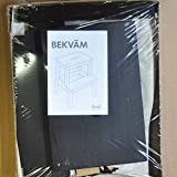 Ikea Bekväm Marchepied en bois massif avec poignée - Noir