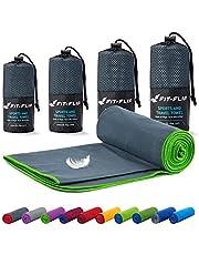 Reishanddoeken set - 16 kleuren, 6 afmetingen - ultralicht, compact, & sneldrogend - Microvezel handdoek - de perfecte sporthanddoek, strandlaken en reishanddoek