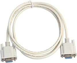 Semoic Serial RS232 Null Modem Cable Female to Female DB9 FTA Cross Connection 9 Pin COM Data Cable Converter PC Accessory 1.5M