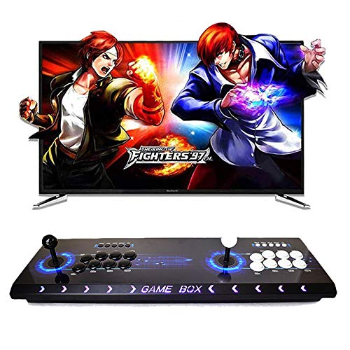 HLLGAME Pandora's Box 3D Full HD Real Arcade Video Game Console 2448 Juegos Retro Consola Arcade Video Gamepad Botones Personalizados Lista Inteligente, Modelo QY-05