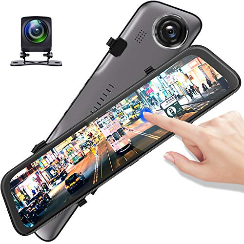 LPWCAWL Dash Cam, 2K+1080P Doppelobjektiv Autokamera, 12-Zoll Rückspiegel Dashcam Mit 170° Weitwinkel, Nachtsicht, G-Sensor, Loop-Aufnahme, Parkmonitor, Einparkhilfe