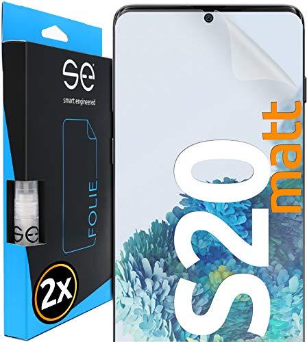 [2 Stück] Entspiegelte 3D Schutzfolien kompatibel mit Samsung Galaxy S20, hüllenfre&liche Matte Bildschirmschutz-Folie, Schutz vor Dreck & Kratzern, kein Schutzglas - smart Engineered