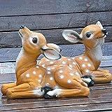 2 pezzi resina cervo decorazione cervo esca, ornamento da esterno sika cervo fulvo figurin...