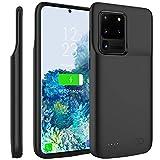Compatible avec Samsung Galaxy S20 Ultra 6.9 Inch Coque Batterie, 6000mAh Rechargeable Externe Chargeur de Batterie Power Bank Coques d'alimentation Extra Backup Housse Batterie de Secours Noir 3