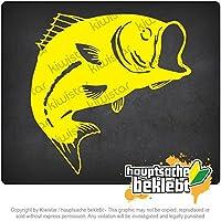 魚のサケ鯉 Fish salmon carp 10cm x 10cm 15色 - ネオン+クロム! ステッカービニールオートバイ
