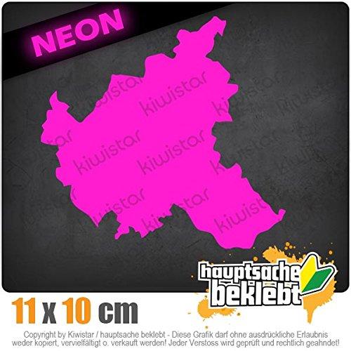 Hamburg Deutschland Silhouette 11 x 10 cm IN 15 FARBEN - Neon + Chrom! Sticker Aufkleber