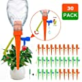 New Upgrade Self Watering Spikes Automatic Plant Self Watering Devices with Slow Release Control Valve Switch, Adjustable Automatic Irrigation System with Anti-Tilt Bracket for Any Plants - 30 Pcs by blue sky 20.