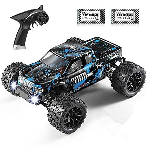 HAIBOXING Ferngesteuertes Auto 1:18 Maßstab 36 km/h 4WD RC Auto 2,4 GHz RC Offroad Elektrofahrzeug RTR Hochgeschwindigkeits Monster Truck Elektro Geländewagen Geschenk Spielzeug