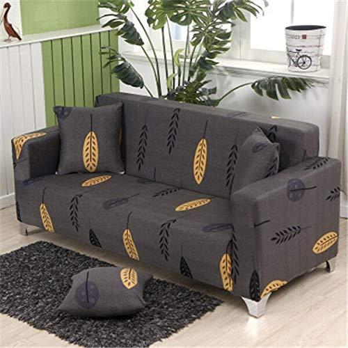 WXQY Funda de sofá elástica para salón, Funda de sofá elástica, Funda de sofá Horizontal, Funda de sillón de Esquina en Forma de L, Funda de sofá A16 de 3 plazas
