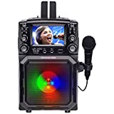 Karaoke USA Portable Karaoke Machine with 4.3 Color TFT Screen, Bluetooth, Recording Function, PA and Built-in Battery (GQ450)