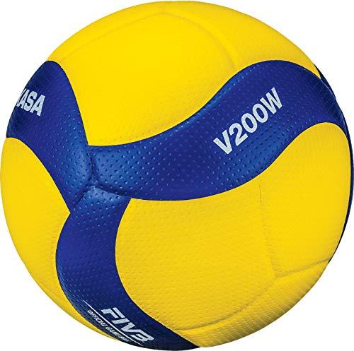 Mikasa Volleyball V200W - Offizieller Spielball: DVV, ÖVV, VBL (FIVB, CEV) (Größe: 5)