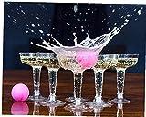 YZLSM Adulto Partido De Consumición De Pong Juego De Navidad/Hen Cumpleaños Stag Regalo De La Diversión - 12 De Plástico Champagne - Uso con Ginebra Cócteles Tequila Suministro