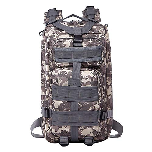 Backpack Military Backpack Waterproof Rucksack Outdoor Camping Hiking Fishing Bags (Color : Grey)
