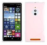 Cadorabo Hülle für Nokia Lumia 830 - Hülle in HALB TRANSPARENT – Handyhülle aus flexiblem TPU Silikon im S-Line Design - Silikonhülle Schutzhülle Soft Back Cover Hülle Bumper