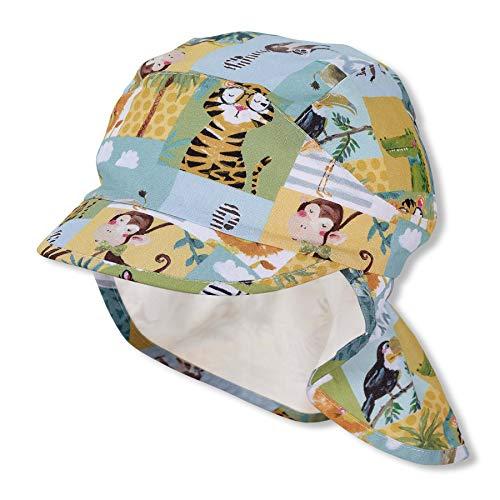 Sterntaler Baby Jungen Schirmmütze M. Nackenschutz 1612142 Winter Hut, Hellgrün, 49 EU