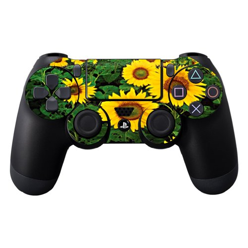 Protective Vinyl Skin Decal Skin Compatible with Sony Playstation DualShock 4 Controller wrap Sticker Skins Sunflowers