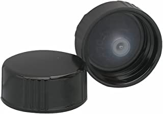 Wheaton 239257 Black Phenolic Screw Cap with PE Poly-Seal Liner, 24-400 Size (Pack of 144)