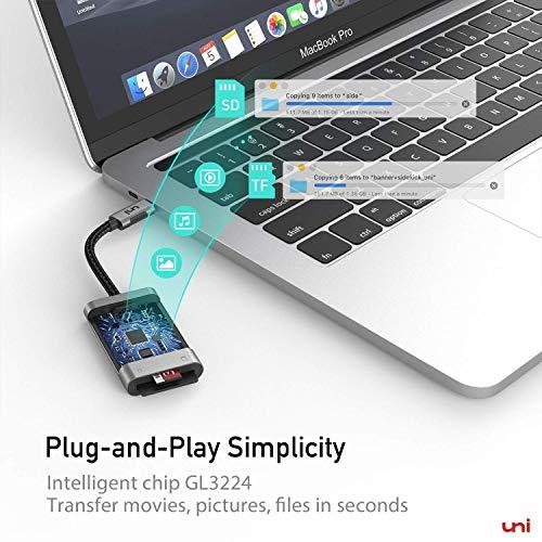 USB C auf Micro SD + SD Kartenleser, uni SD Adapter[Thunderbolt 3], kompatibel für Chromebooks und viele weitere Notebooks - 6