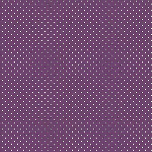 babrause® Baumwollstoff Pünktchen Violett Webware Meterware Popeline OEKOTEX 150cm breit - Ab 0,5 Meter
