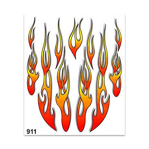 4R Quattroerre.it 911 Aufkleber Flammen, 20 x 24 cm, Mehrfarbig