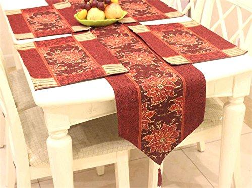American tavolo rustico runner filato di cotone tinto tabella Jacquard runner placemats tovaglioli tovaglia tabella mat Decorazioni di Natale Halloween-YU&XIN