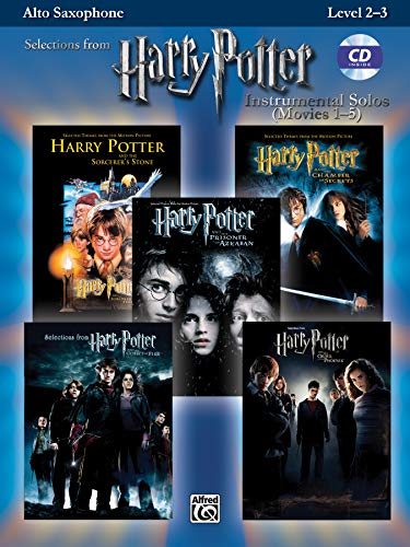 Harry Potter Movies 1-5, w. Audio-CD, for Alto Saxophone (Harry Potter Instrumental Solos (Movies 1-5): Level 2-3)