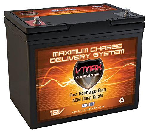 VMAXTANKS MR107-85 12V 85AH Marine AGM SLA Deep Cycle Battery Ideal for Boats and 30lb-55lb Thrust Minn Kota, Newport...