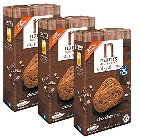 Nairn's Gluten Free Chocolate Chip Oat Grahams, 3 Packs/5.64 oz