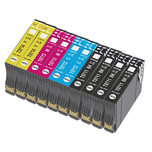 Bada T0715 - Cartucho de tinta compatible para Epson T0711, T0712, T0713, T0714, con Epson Stylus SX218 SX200 SX415 SX400 SX215 BX300F BX310FN SX210 SX215 SX218 DX4050 DX4400 SX100 SX105 SX110 SX115