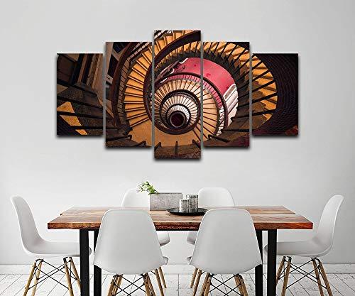 nr Wendeltreppe Kunstdruck Zeichnung dekorative Leinwand Home Print Wandkunst Bild-30x40 30x60 30x80cm Rahmenlos