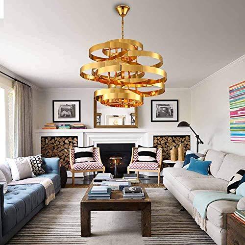 Plafondlamp Tornado kroonluchter Moderne hedendaagse mode Hotel Villa Gold ronde plafondlamp persoonlijkheid woonkamer studie slaapkamer licht aanpassing smeedijzer decoratief C, G-