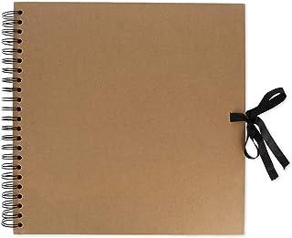 Artemio 11010014 Album à Spirales pour Scrapbooking en Kraft, Beige, 30 cm x 30 cm