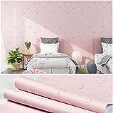Tapete selbstklebende rosa Mädchen wasserdichte und feuchtigkeitsbeständige Tapete-Puder kleben_60 cm * 10 m