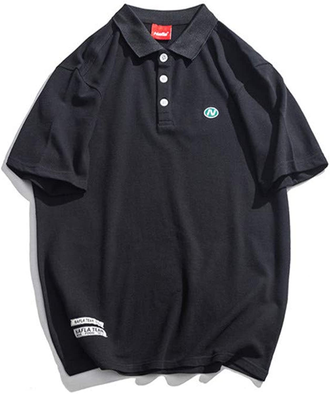 Usopu Men's Solid colord Loose Short Sleeve Polo Polo Polo Shirt 3f1cc1