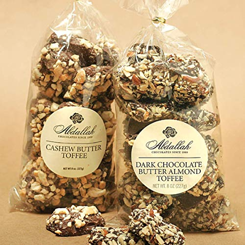 Abdallah Chocolates Dark Chocolate Butter Almond Toffee 7oz